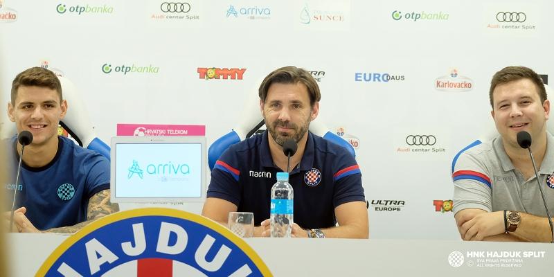 Trener Kopić i Stanko Jurić uoči utakmice Hajduk - FCSB