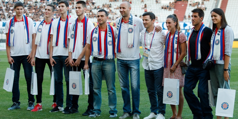 Splitska publika pozdravila osvajače medalja