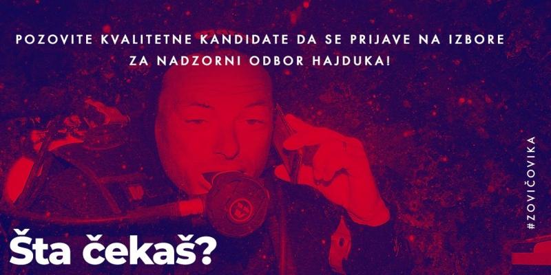 Zovi čovika: Pozovite kvalitetne kandidate da se prijave za izbore za Nadzorni odbor Hajduka!