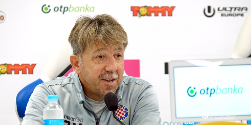 Trener Vulić uoči utakmice Hajduk - Inter Zaprešić
