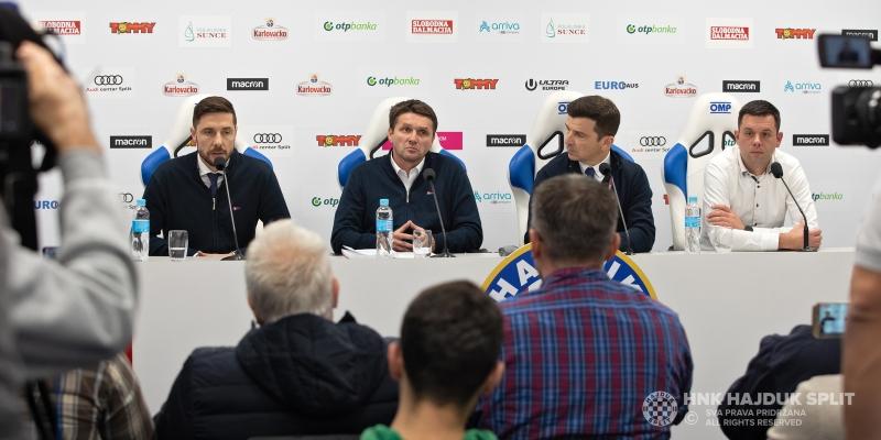 Predstavljen trener Oreščanin: Ovo je velika čast, svjestan sam što Hajduk znači ljudima