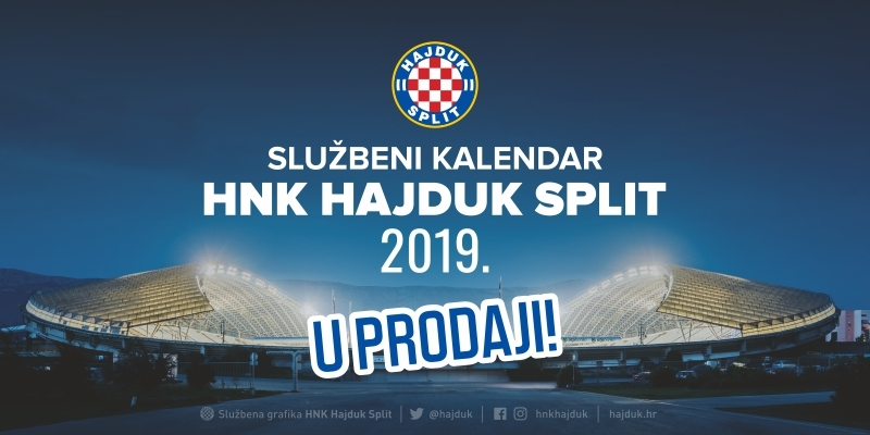 "Hajduk official 2019 calendar now on sale: ""40 years of Hajduk at Poljud"""