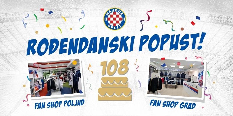 Mjesec dana rođendana u Hajdukovim Fan shopovima