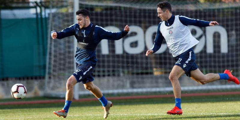 Final preparations for Lokomotiva, Juranović back training