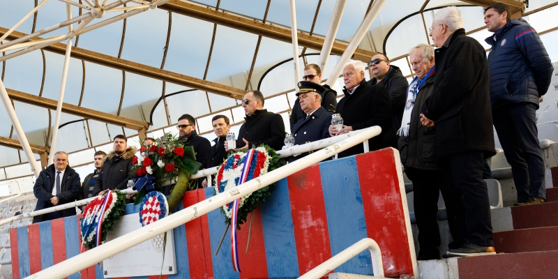 Hajduk's 108th birthday: Mass at Poljud, laying wreaths at north stand