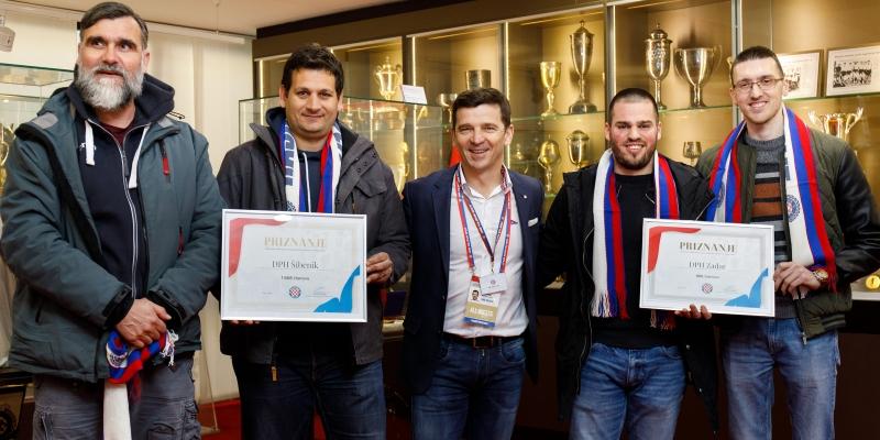 Na Poljudu uručena priznanja Društvima prijatelja Hajduka s najviše članova u 2018. godini