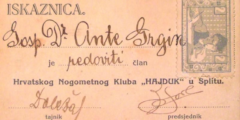 """Hajduk organizira izložbu """"Pod bijelim barjakom od 1911."""""""