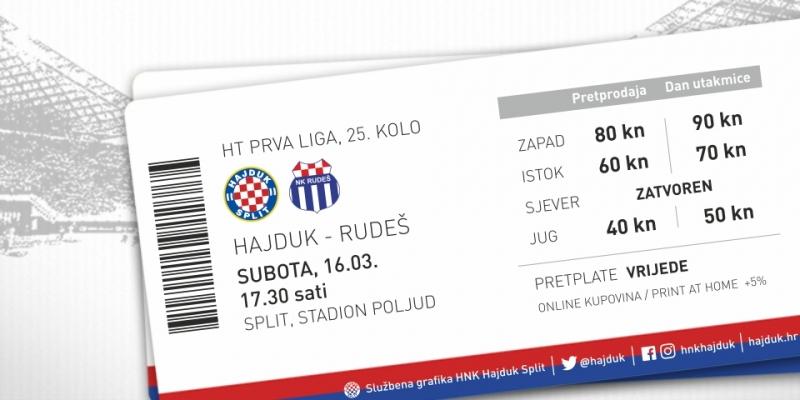 Hajduk - Rudeš tickets on sale