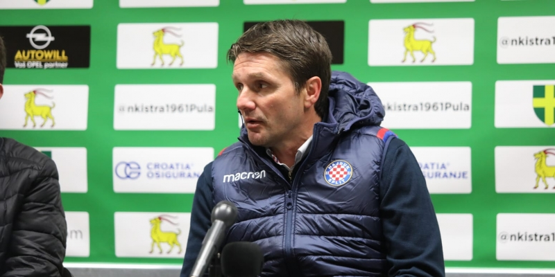 Post-match press conference in Pula