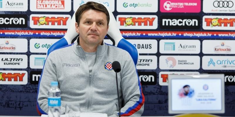 Coach Oreščanin after the derby