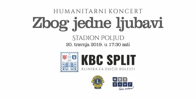"""Humanitarni koncert na Poljudu: """"Zbog jedne ljubavi"""" za Zavod za hemato-onkologiju Klinike za dječje bolesti KBC Split"""