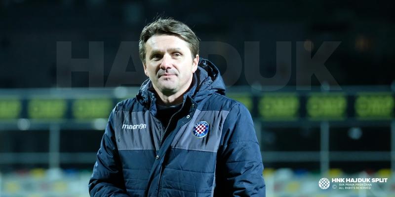 Coach Oreščanin after the victory against Lokomotiva