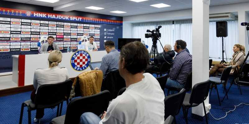 Press conference ahead of Hajduk - Istra 1961