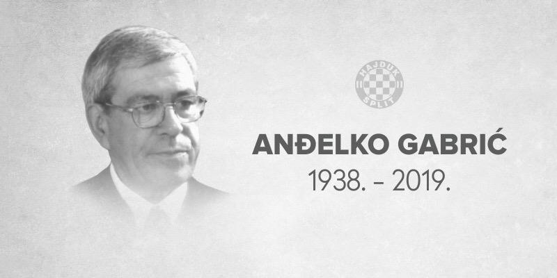 Preminuo Anđelko Gabrić, bivši predsjednik Hajduka