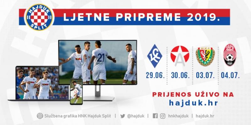 Watch international friendlies in Slovenia live on hajduk.hr