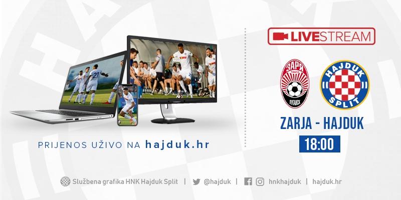 Cijela utakmica: Zarja - Hajduk
