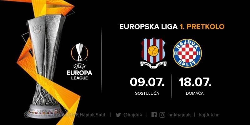 Match officials for Gzira United - Hajduk Split