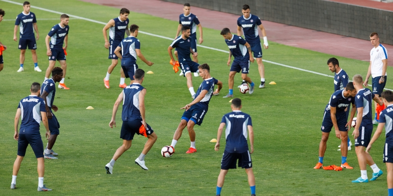Pre-match training ahead of the first home match in the season 2019/2020