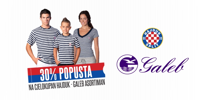 Akcija na cjelokupan Hajduk-Galeb asortiman