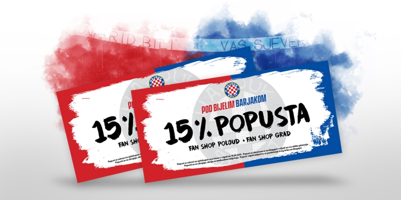 Visit Zvončac on Saturday and get your 15% discount for Hajduk Fan Shops