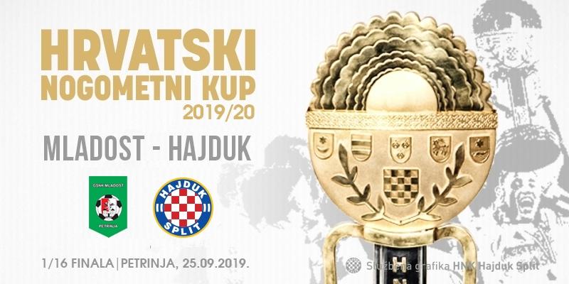 Hajduk u šesnaestini finala Kupa protiv Mladosti iz Petrinje