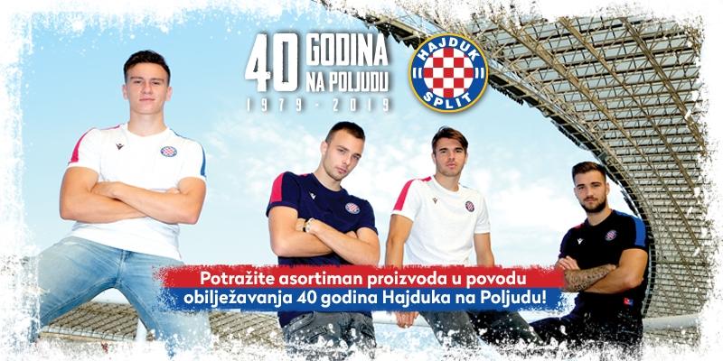 U prodaji asortiman proizvoda u povodu obilježavanja 40 godina Hajduka na Poljudu