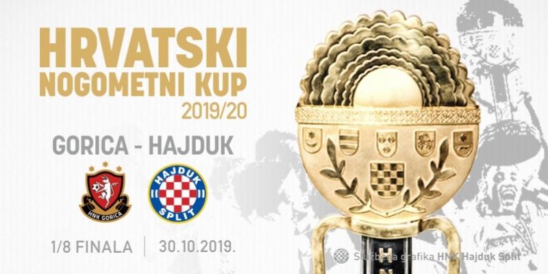 Hajduk protiv Gorice u osmini finala Kupa