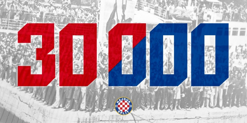Djevojčica iz Ernestinova pokraj Osijeka 30.000 članica Hajduka
