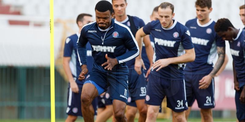Pre-match training session
