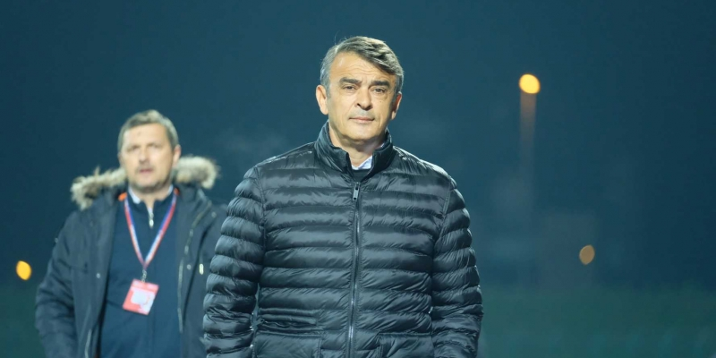 Coach Burić after the match with Gorica