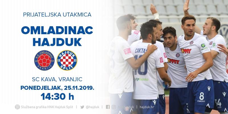 Prijateljska utakmica Omladinac - Hajduk odgođena za 25. studenog