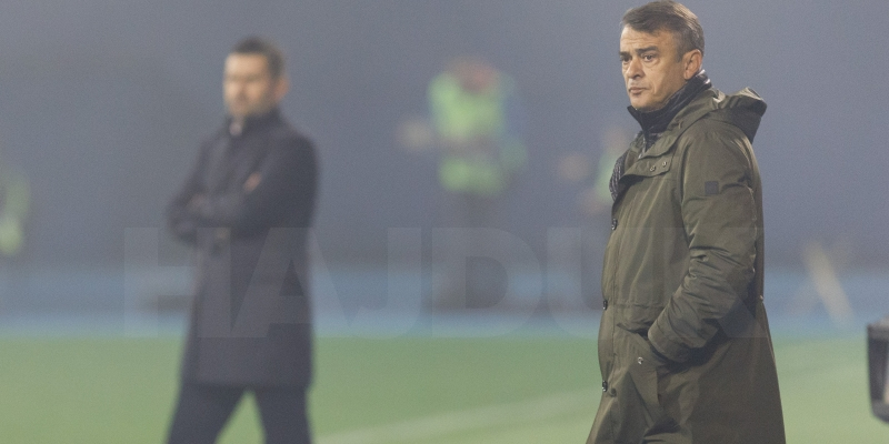 Coach Burić after the derby at Maksimir