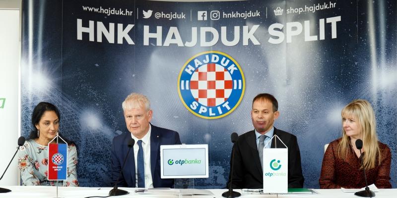 HNK Hajduk i OTP banka produžili sponzorsku suradnju