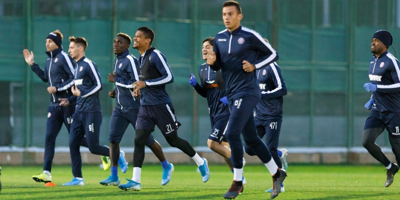 First team preparing for the Adriatic derby