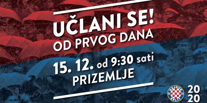 Pripadaj i ti Hajduku: Nova članska godina počinje već u nedjelju