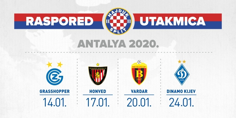 Hajdukovi suparnici na zimskim pripremama u Turskoj