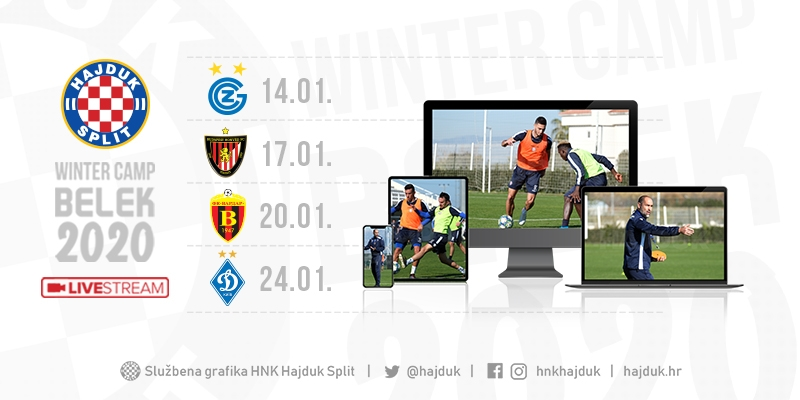 Pripremne utakmice Bijelih iz Turske gledajte uživo na hajduk.hr!