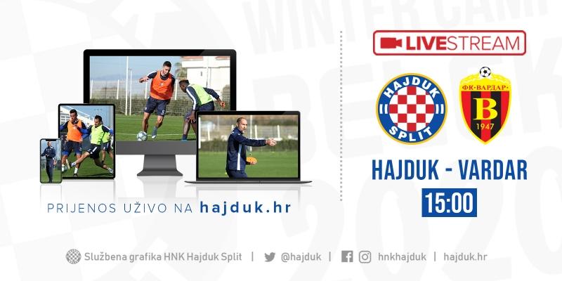 UŽIVO: Hajduk - Vardar