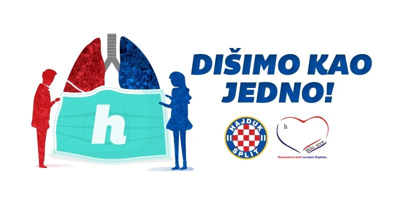 Dišimo kao jedno: Hajduk i Bilo srce za KBC Split!