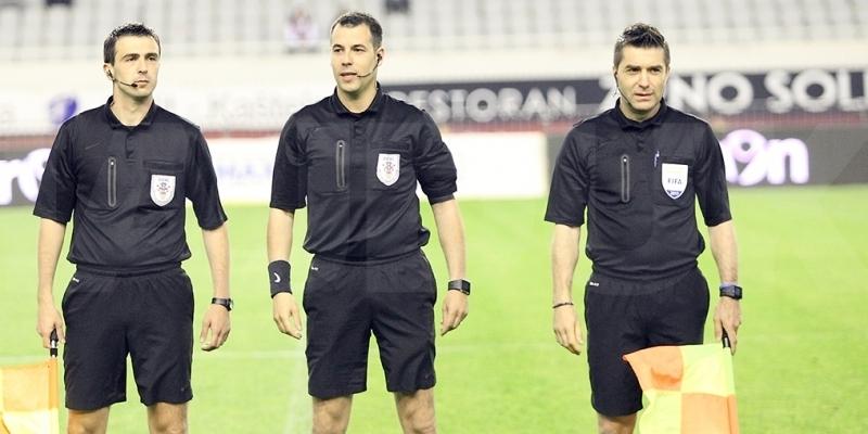 Ivan Vučković sudi utakmicu Hajduk - Varaždin