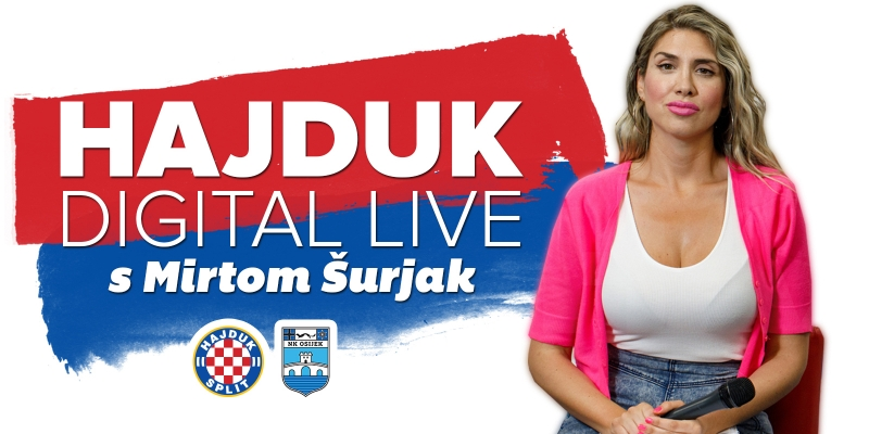 Hajduk Digital Live uoči i nakon utakmice Hajduk - Osijek 0:1