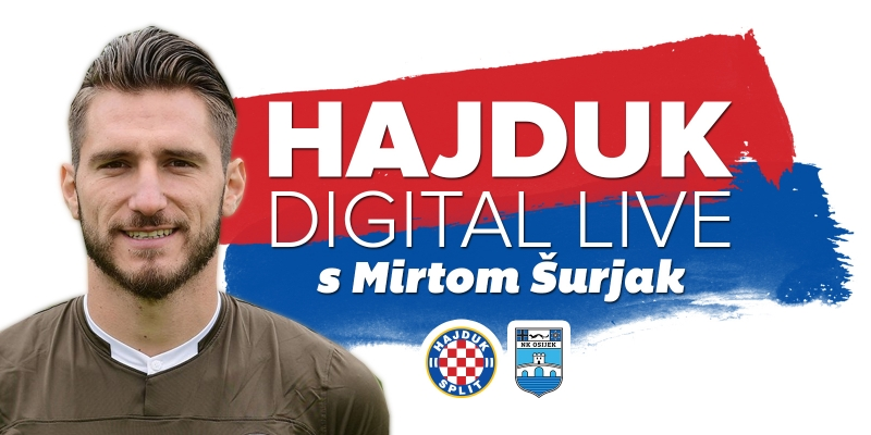 Dimitrios Diamantakos će danas biti predstavljen u emisiji Hajduk Digital Live!