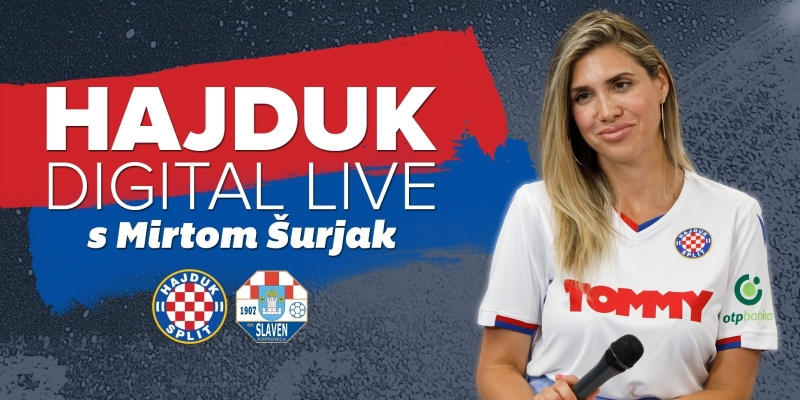 Hajduk Digital Live uoči i nakon utakmice Hajduk - Slaven Belupo 2:2
