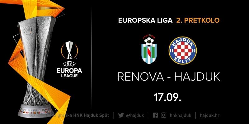 Hajduk u 2. pretkolu Europske lige igra protiv KF Renova