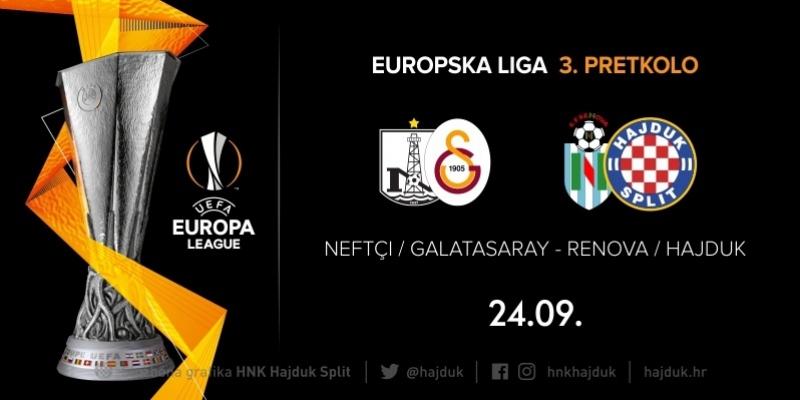 U slučaju prolaska Renove, Hajduk s pobjednikom susreta Neftçi - Galatasaray