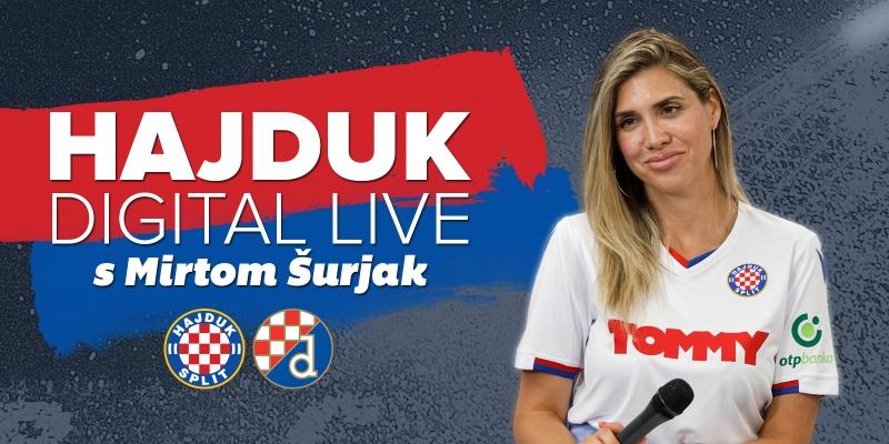 Derbi izdanje Hajduk Digital Live s Mirtom Šurjak od 17:30 sati