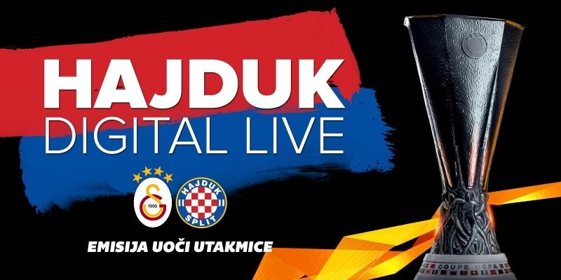 Hajduk Digital Live uoči i nakon utakmice Galatasaray - Hajduk
