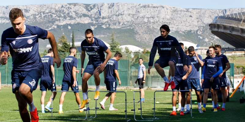 Hajdukovci se pripremaju za utakmicu s Goricom