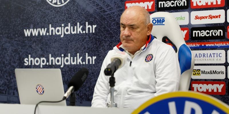 Trener Bijelih Boro Primorac uoči Hajduk - Osijek
