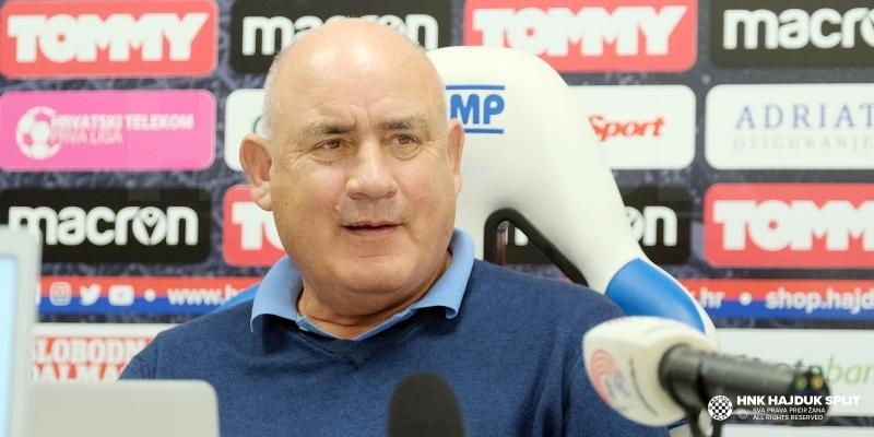 Trener Boro Primorac uoči utakmice Hajduk - Gorica